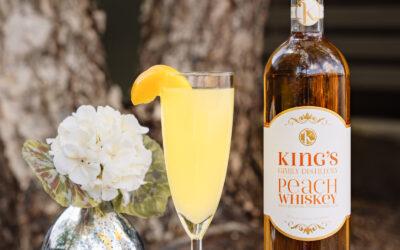 Peach Whiskey Mimosa